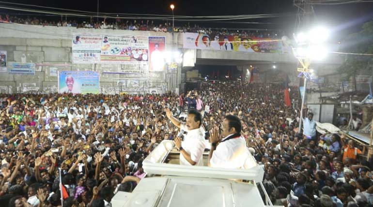NEET The Spearhead of DMK Campaign in Vellore. MK Stalin in Vellore