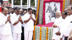 EPS honours Theeran Chinnamalai statue in Guindy