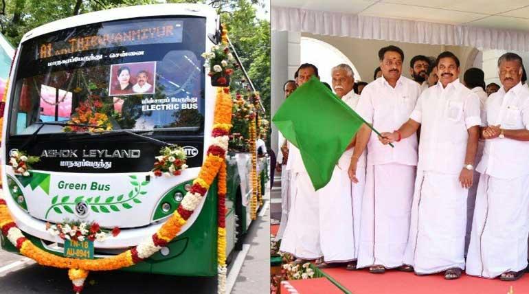 Electric Green Bus in Chennai