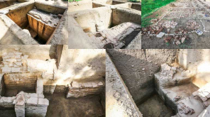 Keeladi Excavation Team Found 2500 Years Old Water Tank. photo Arun