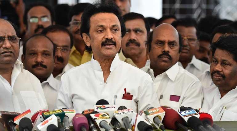 DMK Leader Stalin Says AIADMK Ministry is Becoming a Tourism Ministry