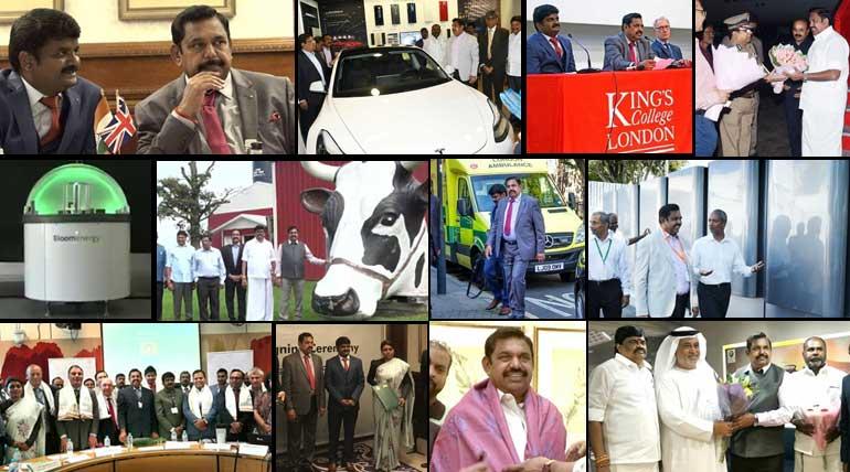 Foreign Trip Overview Details of Tamil Nadu CM Edappadi Palaniswami