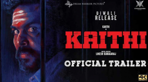 Kaithi trailer is trending