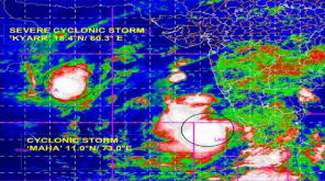 IMD releases Latest Update on Cyclone Maha and Cyclone Kyarr