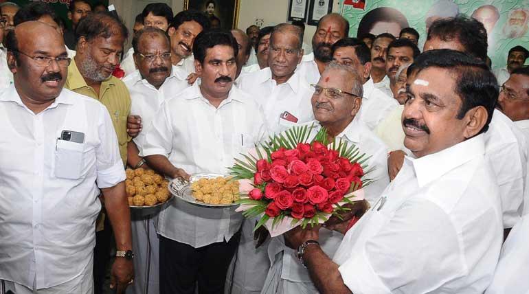 CM Edappadi K. Palaniswami Thanked Vikravandi and Naguneri Voters for Victory