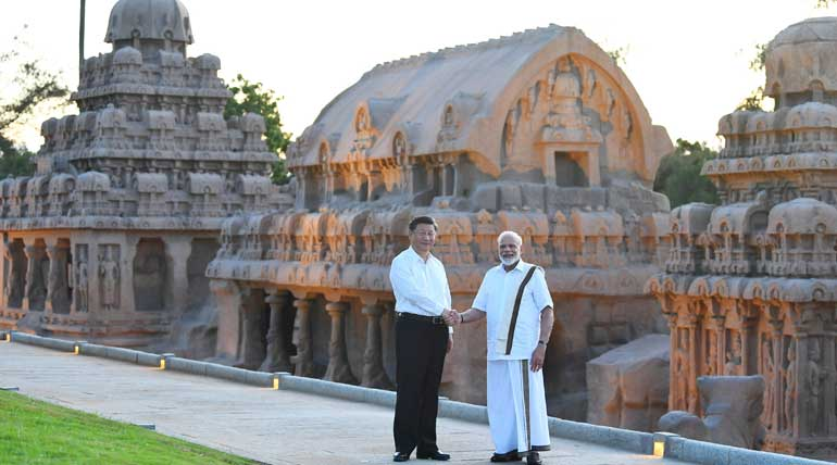 Chinese President Xi Ping and PM Modi in Tamil Nadu