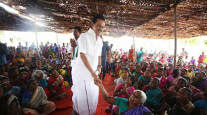 DMK Stalin in Election Campaign