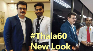 Ajith Kumar video of new look hairstyle with mustache in Thala60 movie