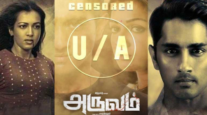Siddharth Aruvam Movie Censored U/A