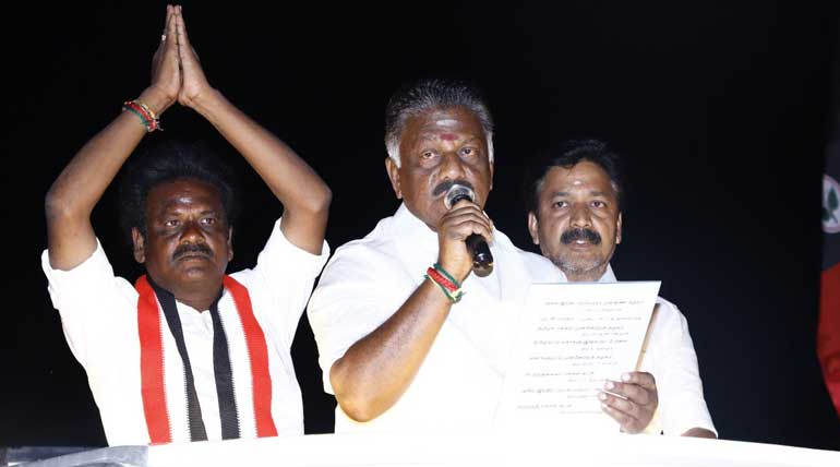 AIADMK O. Panneerselvam and Congress Khushbu election campaign