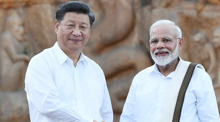 China President Xi Jinping and PM Modi in Mamallapuram