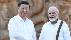 China President Xi Jinping and PM Modi in Mamallapuram