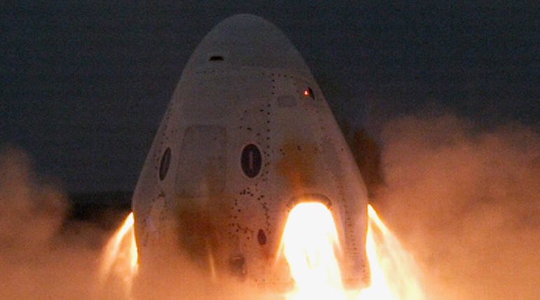 SpaceX Successfully Completes its Static Fire Test of Crew Dragon