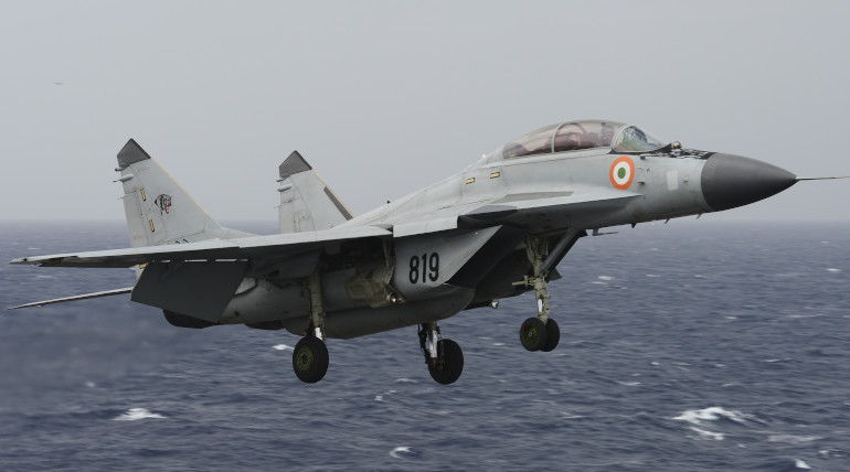 Indian MiG-29K Fighter Plane Crashed Near Goa