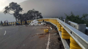 Roller Cross Barricades in Ooty-Kallati Road. Image: Twitter