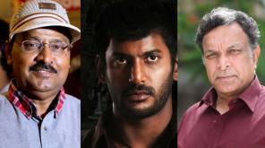 Director K Bhagyaraj, Actor Vishal and Actor Naasar / File Photo