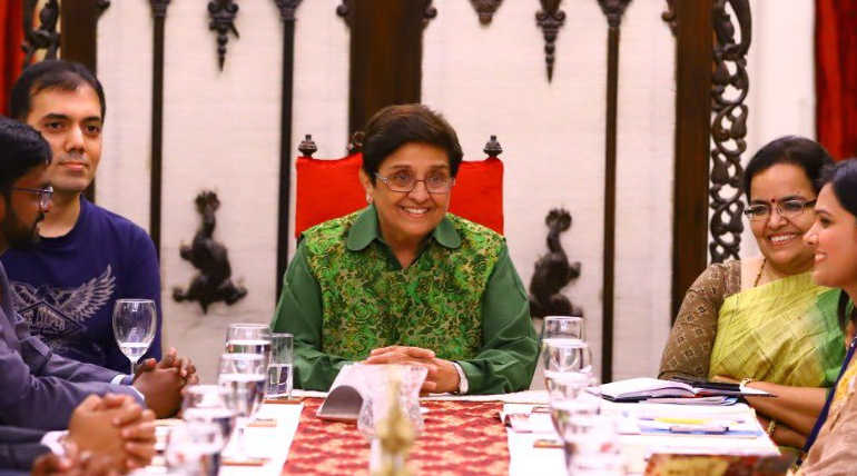Kiran Bedi Become the Center Piece of Trolls After Sharing a Fake Video of Sun Chanting Om