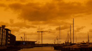 New Zealand Sky turns Orange Because of Bushfire in Australia Image Courtesy- Gala Georgette
