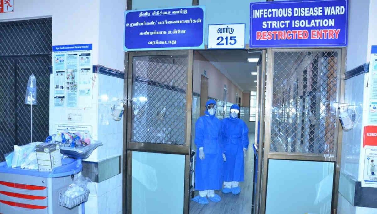 Coronavirus Isolation ward in an Hospital in Tamil Nadu