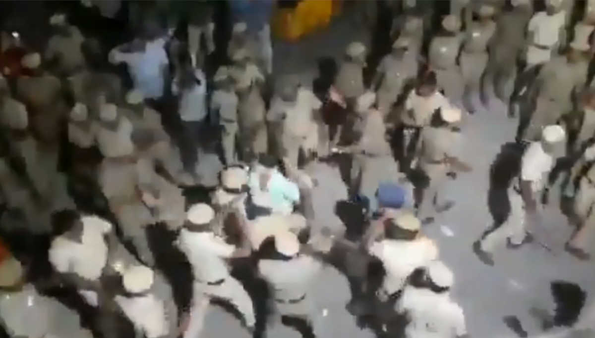 Police Lathi Charge in Chennai CAA Protest