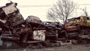 Vehicles in Scrappage Yard / Representation
