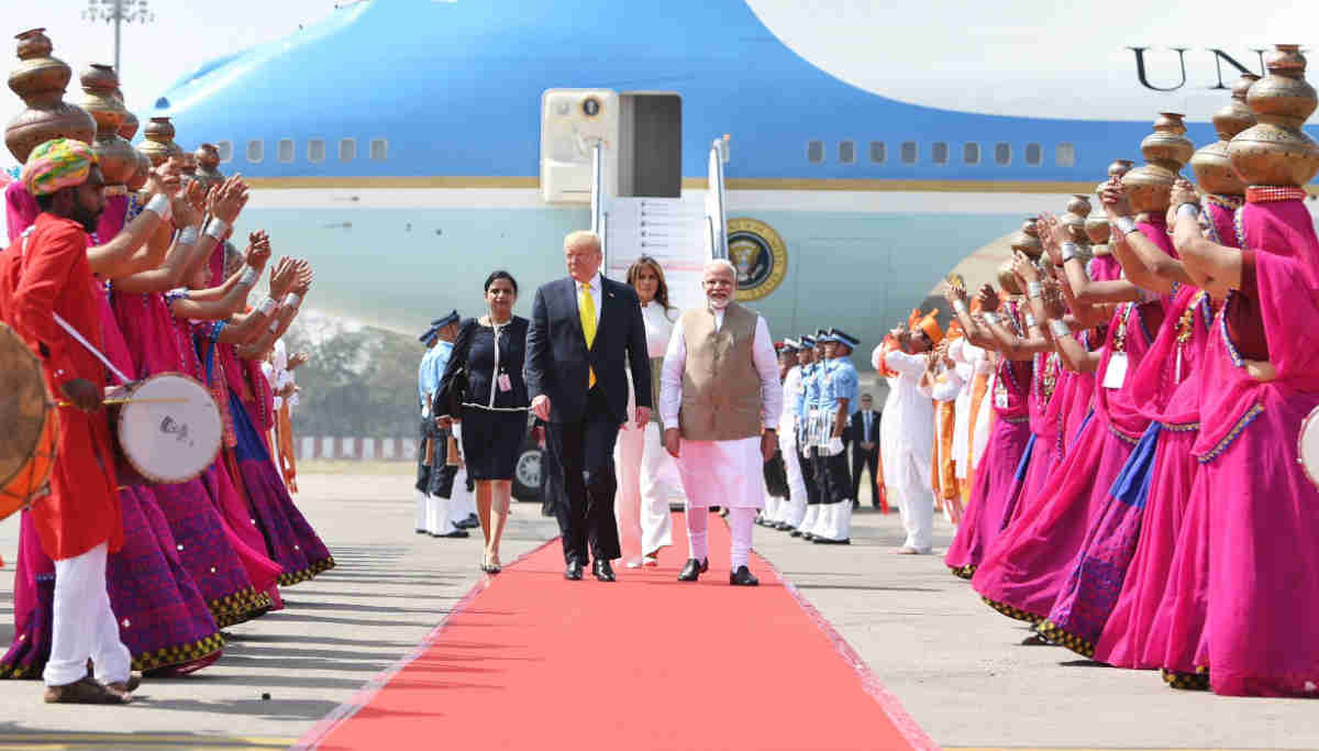 Prime Minister Narendra Modi Received the US President Donald Trump
