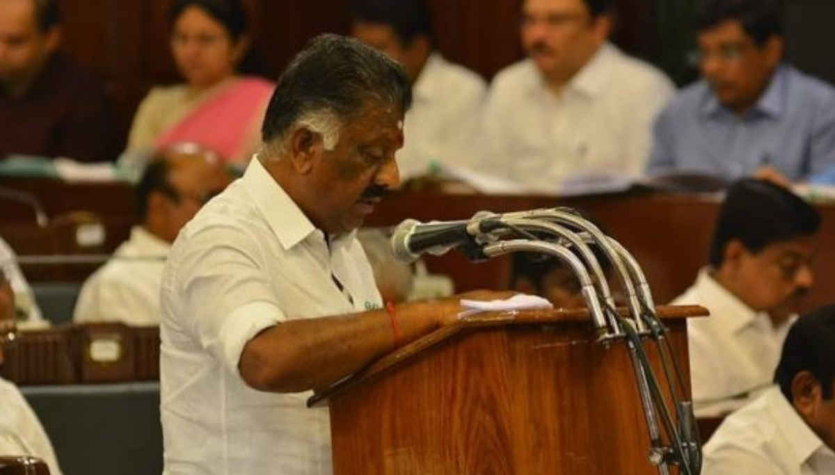 Deputy CM of Tamil Nadu O Panneerselvam In TN Assembly