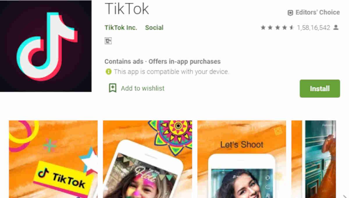 Tik Tok App in App Store