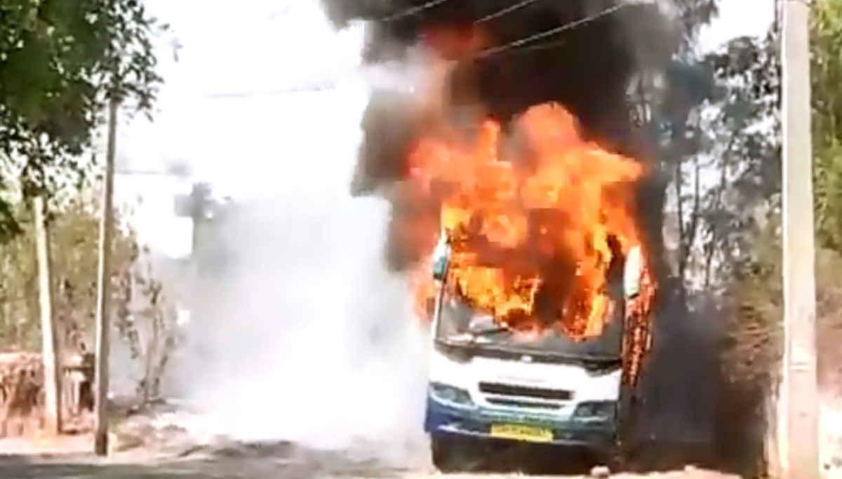 KPN Owned Omnibus Caught Fire in Salem