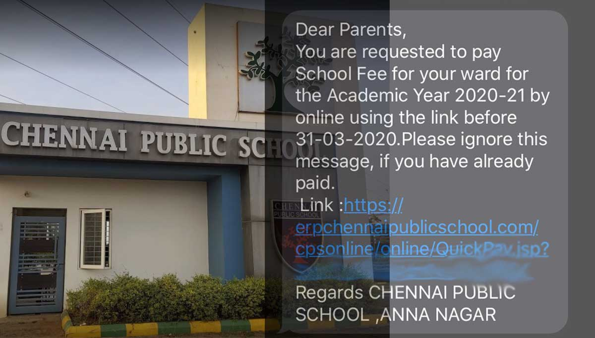 Schools at Chennai Forcing Parents to Pay Fees During Lockdown