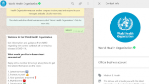 WHO Spreads Coronavirus Information through Whatsapp