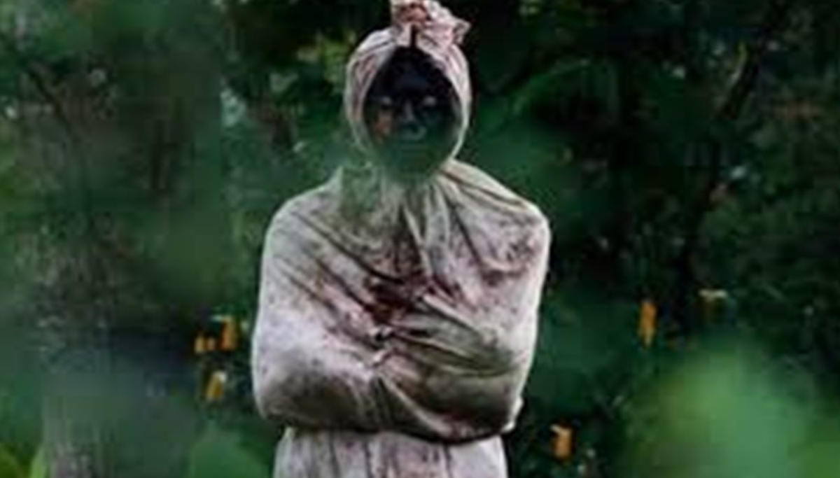 Pocong Ghost Patrolling in Indonesia