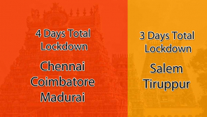Tamil Nadu Covdi19: 4 Days Full Lockdown in Chennai, Coimbatore and Madurai