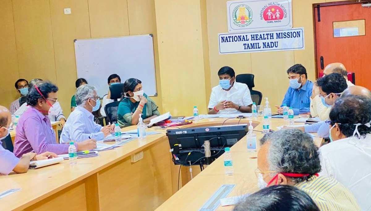Health Minister Dr. Vijaya Baskar, Covid Review meeting.