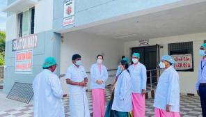 Minister Vijayabaskar Visit to Isolation Ward Tambaram GH