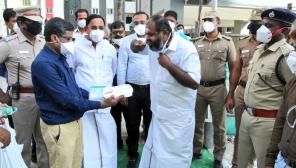 Minister Udhayakumar in Chennai Thiru Vi Ka Nagar