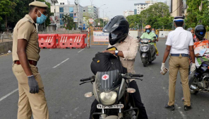 Tamil Nadu Coronavirus Cases. Police inspection in Chennai. Photo Credit AS.