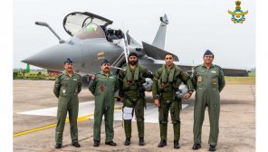 The Chief of the Air Staff Air Chief Marshal RKS Bhadauria and AOC-in-C WAC Air Marshal B Suresh welcomed the first five IAF Rafales which arrived at AF Stn Ambala today.