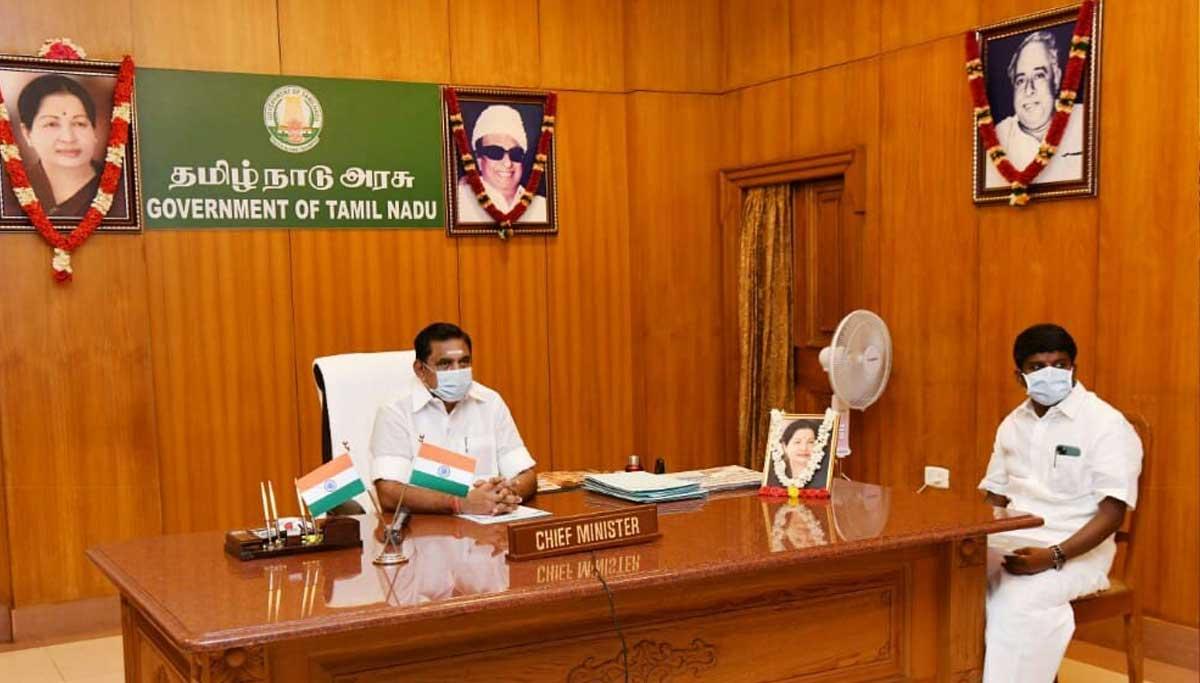CM Edappadi Palanisami and Health Minister Vijayabaskar, Tamil Nadu