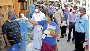 Food and Civil Supplies Minister Kamaraj during Corona inspection in Chennai
