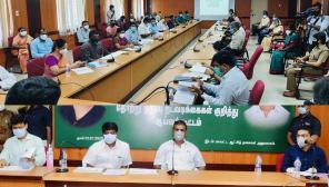 Covid Management Review at Coimbatore, Minister Vijayabaskar and Velumani