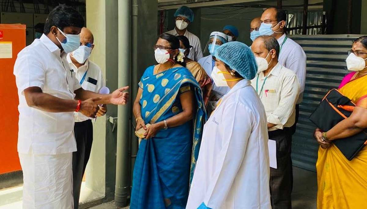 Health Minister Vijaya Bhaskar Says 75,000 Beds ready for Covid Treatment