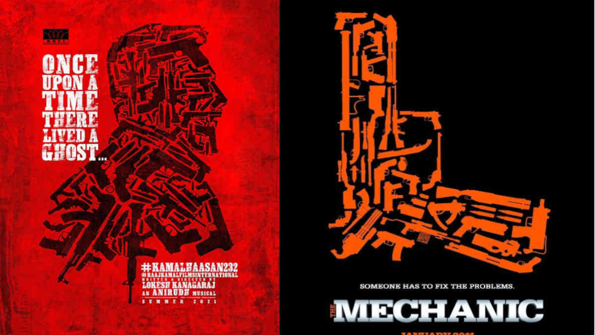 Comparing Kamal Haasan 232nd film poster and The Mechanic poster