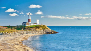 Montauk Lighthouse of the Long Island Sound