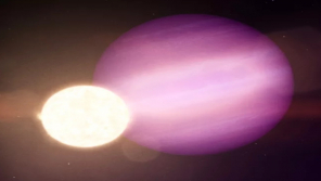 Artist's Illustration of WD 1856 b orbiting Dead White dwarf (Image: NASA Goddard Space Flight Center)