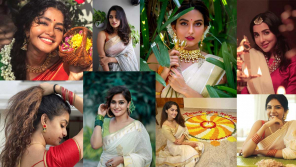 Onam 2020: Actress celebration photos