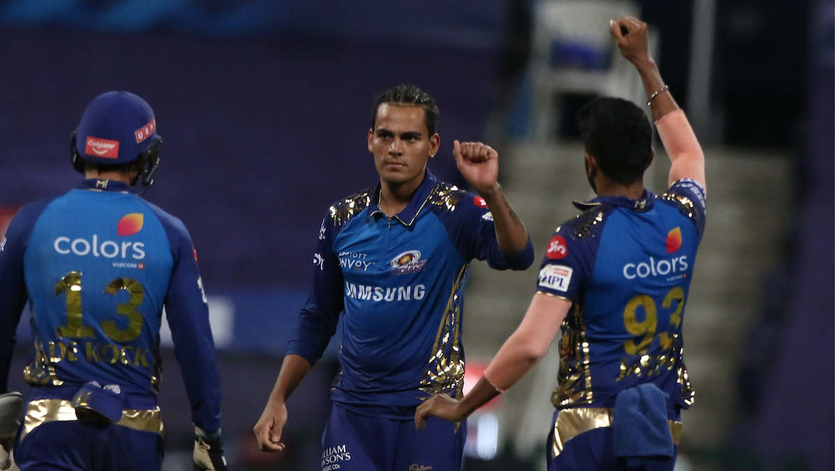 Chahar after removing KL Rahul from the Field