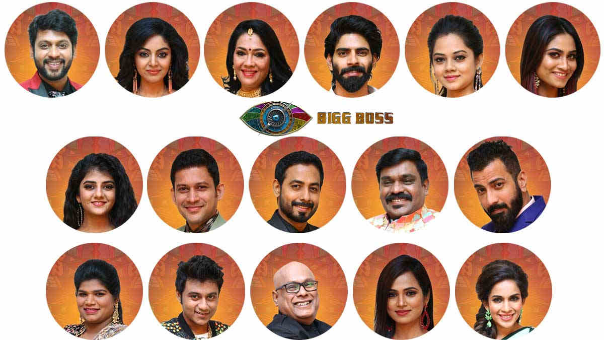 Bigg Boss Tamil 4 2020 Contestants Photos