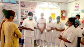 Dr.C.Vijaya Baskar visited the Iluppur Government Hospital and discussed about treating COVID patients