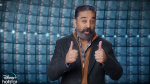 Kamal Haasan symbolically saying two more days for BB4 Premier..